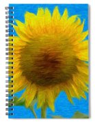 Portrait Of A Sunflower Spiral Notebook