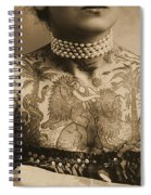 Portrait Of A Tattooed Woman Spiral Notebook
