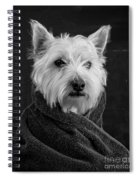 Portrait Of A Westie Dog 8x10 Ratio Spiral Notebook