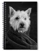 Portrait Of A Westie Dog Spiral Notebook