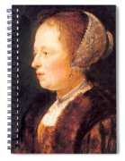 Portrait Of A Woman 1640 Spiral Notebook
