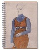 Portrait Of A Woman Late Xix - Early Xx Century Kuzma Sergeevich Petrov-vodkin Spiral Notebook