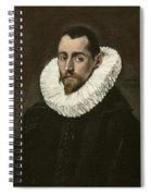 Portrait Of A Young Gentleman Spiral Notebook