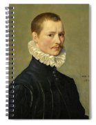 Portrait Of A Young Gentleman Head And Shoulders At The Age Of 23 Spiral Notebook
