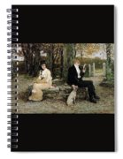 Portrait Of A Young Girl Adolphe William Bouguereau Spiral Notebook