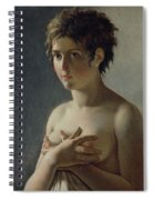 Portrait Of A Young Girl Spiral Notebook