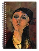 Portrait Of A Young Girl Louise 1915 Spiral Notebook