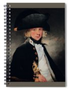 Portrait Of A Young Midshipman Sir Henry William Beechey Spiral Notebook
