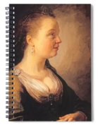 Portrait Of A Young Woman 1640 Spiral Notebook