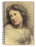 Portrait Of A Young Woman Looking Over Her Shoulder Spiral Notebook
