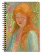 Portrait Of A Young Women In Garden 1912 Spiral Notebook