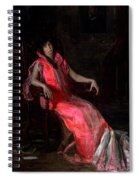 Portrait Of Actress Suzanne Santje Spiral Notebook