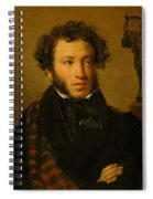 Portrait Of Alexander Pushkin 1827 Spiral Notebook