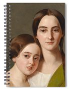 Portrait Of Alexandrine Pazzani And Her Cousin Caroline Von Saar According To Family Tradition Spiral Notebook