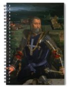 Portrait Of Alfonso I D Este 1530 Spiral Notebook