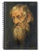 Portrait Of An Old Man 1913 Spiral Notebook