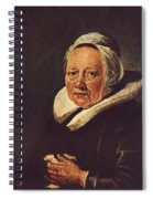 Portrait Of An Old Woman 1645 Spiral Notebook