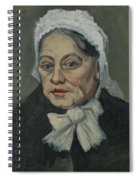Portrait Of An Old Woman Antwerp December 1885 Vincent Van Gogh 1853  1890 Spiral Notebook