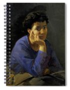 Portrait Of An Unknown Woman In A Blue Blouse Spiral Notebook
