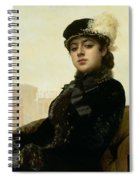 Portrait Of An Unknown Woman Spiral Notebook