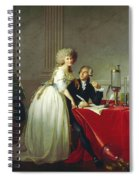 Portrait Of Antoine-laurent Lavoisier And His Wife Spiral Notebook