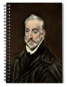 Portrait Of Antonio De Covarrubias Spiral Notebook