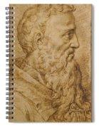 Portrait Of Baccio Bandinelli In Profile To The Right Spiral Notebook
