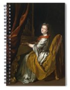 Portrait Of Barbara Janssens At The Organ Spiral Notebook