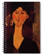 Portrait Of Beatrice Hastings 1915 Spiral Notebook