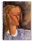 Portrait Of Beatrice Hastings 1916 Spiral Notebook