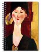 Portrait Of Beatrice Hastings Before A Door 1915 Spiral Notebook