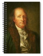 Portrait Of Benjamin Franklin Spiral Notebook