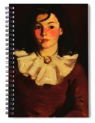 Portrait Of Cara In A Red Dress Spiral Notebook