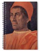 Portrait Of Cardinal Carlo De Medici 1466 Spiral Notebook