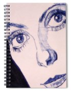 Portrait Of Catherine Close Up Details Spiral Notebook
