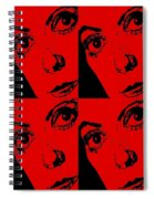 Portrait Of Catherine Pop Art Design Spiral Notebook
