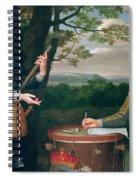 Portrait Of Charles I And Sir Edward Walker Spiral Notebook