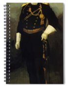 Portrait Of Colonel David Perry 9th U Cavalry 1907 Spiral Notebook