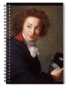 Portrait Of Count Grigory Chernyshev With A Mask In His Hand     Lisabeth Louise Vige Le Brun Spiral Notebook