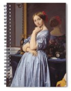 Portrait Of Countess D Haussonville Spiral Notebook