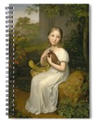 Portrait Of Countess Louise Bose As A Child Spiral Notebook