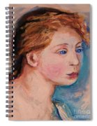 Portrait Of  Country Girl Spiral Notebook