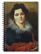 Portrait Of Darya Nikolaevna Chvostova 1814 Spiral Notebook