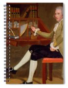 Portrait Of David Baldwin 1790 Spiral Notebook