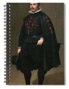 Portrait Of Don Pedro De Barberana Diego Rodriguez De Silva Y Velazquez Spiral Notebook