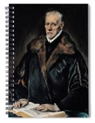 Portrait Of Dr. Francisco De Pisa Spiral Notebook
