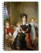 Portrait Of Elizabeth Lea And Her Children Spiral Notebook