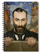 Portrait Of Feliks Jasienski Spiral Notebook