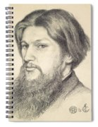 Portrait Of Ford Madox Brown Spiral Notebook