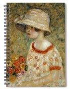 Portrait Of Frances Kilmer Spiral Notebook